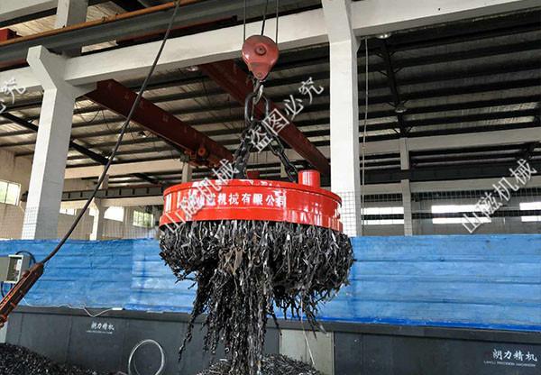 吊運廢鋼用起重電磁鐵
